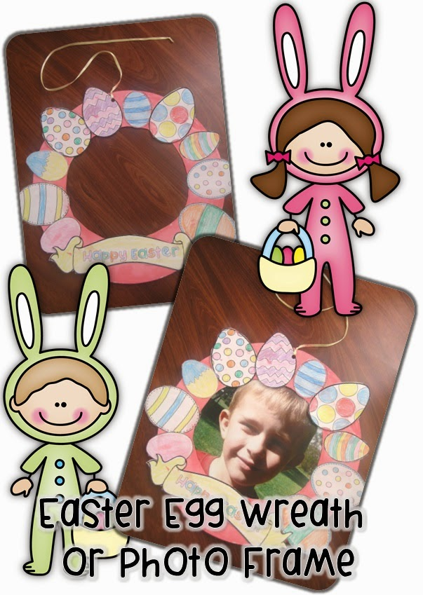Easter Egg Wreath and Photo Frame - Clever Classroom Blog