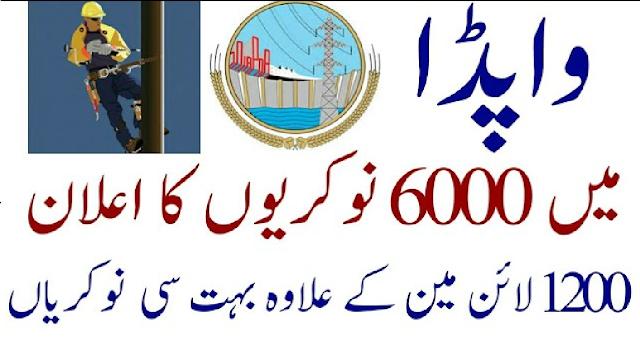 WAPDA Upcoming 6000+ Vacancy Jobs 2021