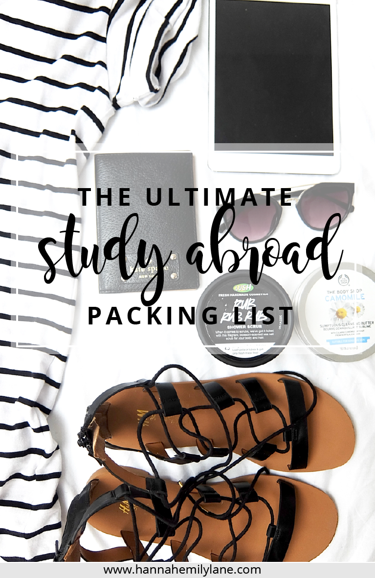 Packing for the year abroad is DIFFICULT. Here's the ultimate guide full of tips and a FREE checklist to make your life a little easier, so you don't overpack or under pack! | www.hannahemilylane.com