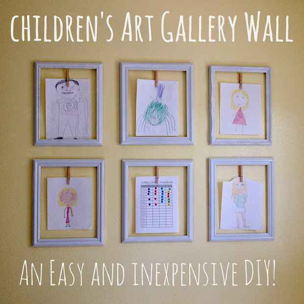 Cathey With Diy Children' Art Wall