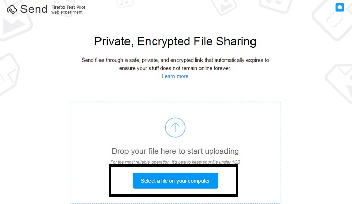 Opera Firefox On Your Device 2 Visit Send Website Upload A File From Local Storage By Taping Select