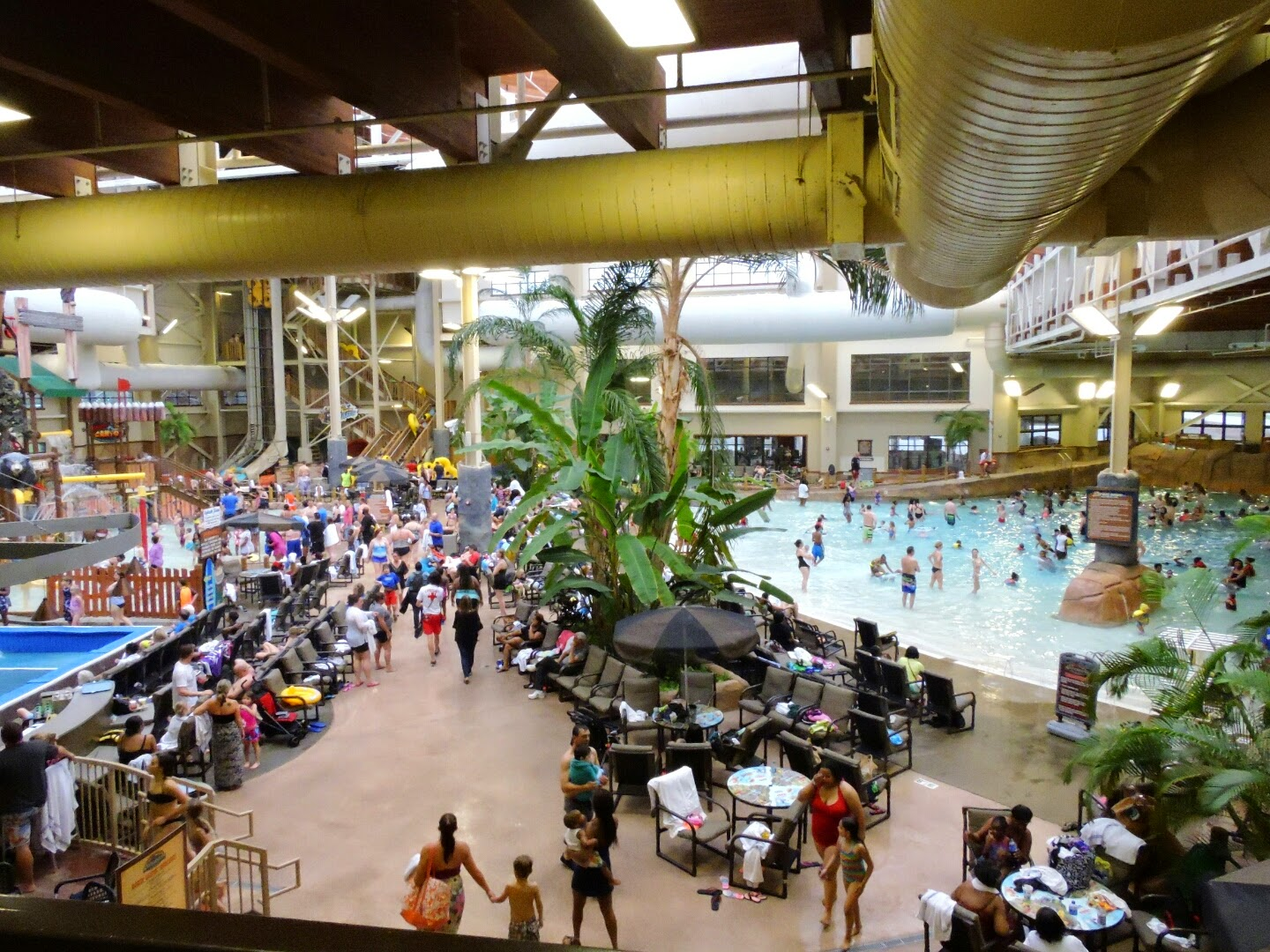 Spring Break at the Smoky Mountains Tennessee  (The Wilderness at the Smokies indoor pool)  via www.productreviewmom.com