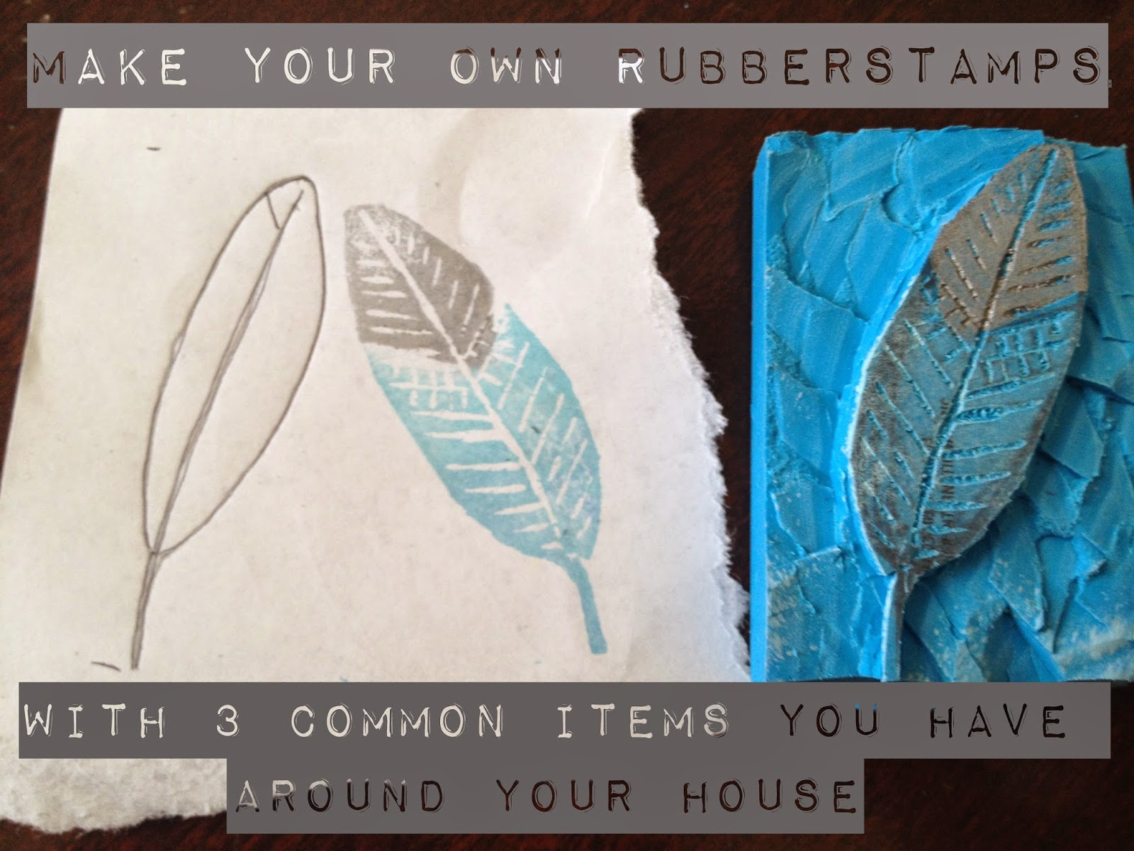 make your own rubber stamps, the altered past