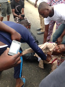 FRSC official brutalized in Jibowu this morning (photos)