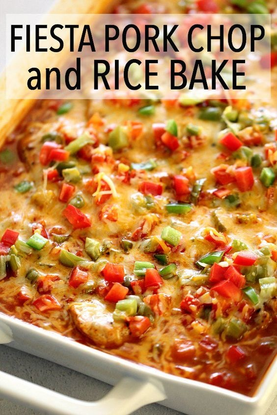 Fiesta Pork Chop And Rice Bake Recipe