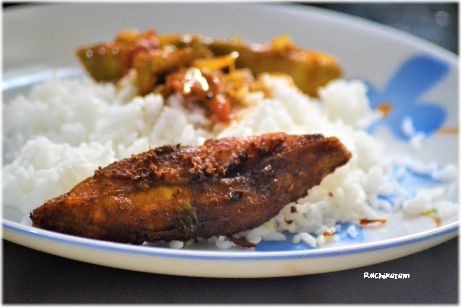 Ruchikaram avoli fry pomfret fry fish fry for Cliffords fish fry