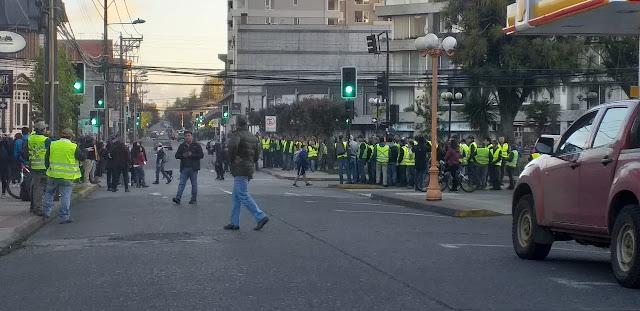 Chalecos amarillos en Osorno