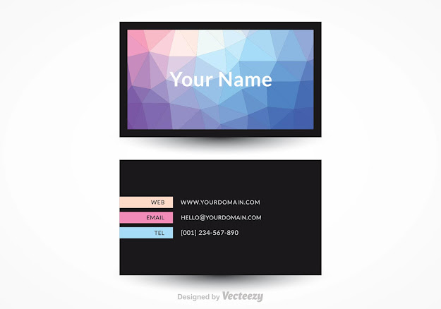 Free Modern Business Card Vector Design