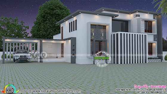 2860 sq-ft 5 BHK modern contemporary home