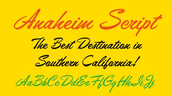 Walcott Design Fonts and Graphics: Font of the Week #4: Anaheim Script