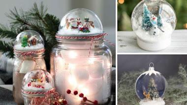 10 bolas de nieve DIY ¡Que puede hacer cualquiera!