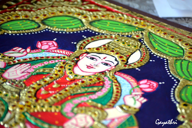 Dhanalakshmi Tanjore painting  decorative indian painting