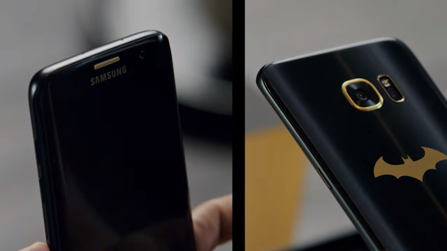 Samsung Unveils The Batman S7 Edge and It's so cool !