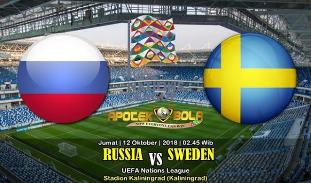 Prediksi Rusia vs Swedia 12 Oktober 2018