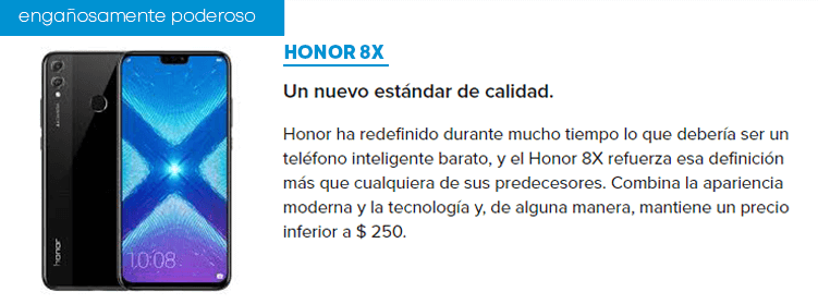 Huawio Honor 8X amazon