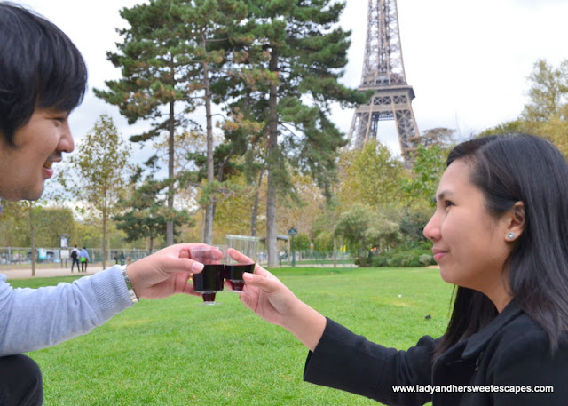 Romantic Picnic with a view of Eiffel Tower