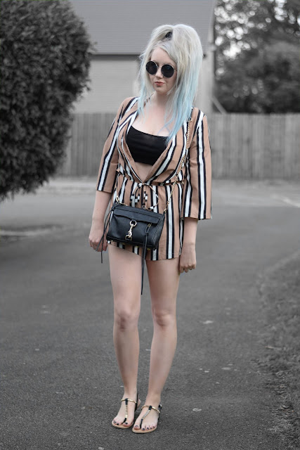 Sammi Jackson - Rosegal Striped Playsuit