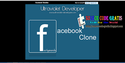 Download Source Code Gratis PHP Web Facebook Clone