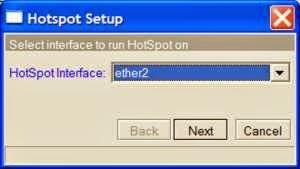 hotspot step 2 Cara Setting Hotspot MikroTik