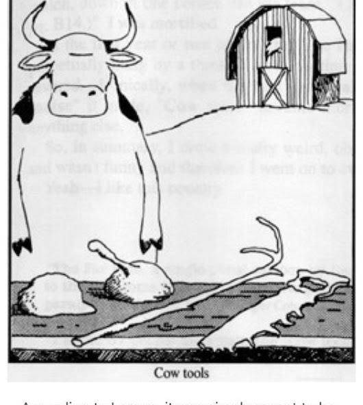 #MotivationalMonday -- Cow Tools in World Building