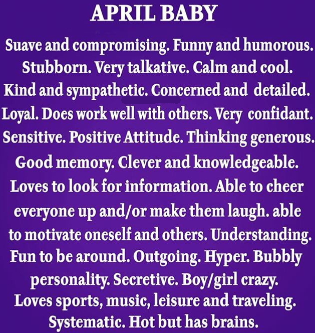 fun facts about april birthdays