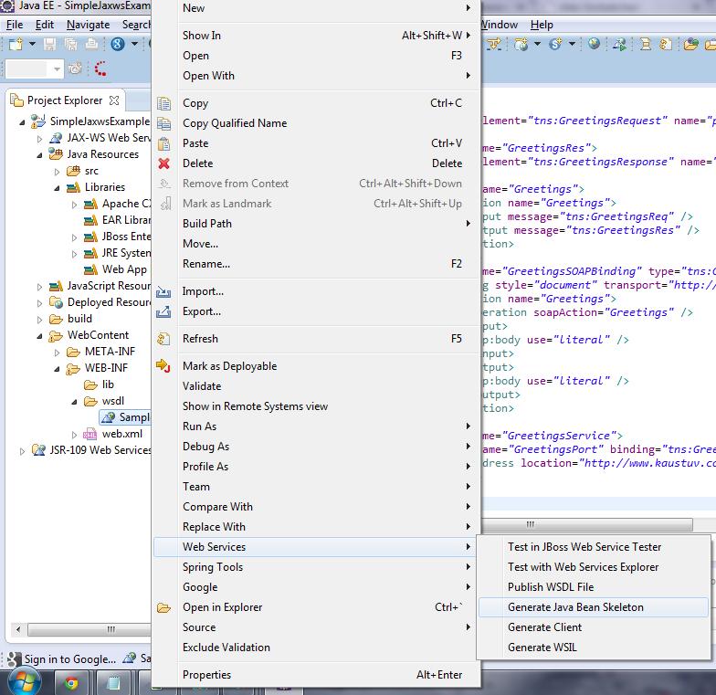 Kaustuv's Blog: Webservice With Cxf Using Embedded Jetty