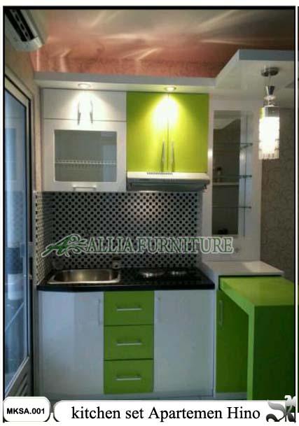 Kitchen set apartemen minimalis hino allia furniture for Kitchen set apartemen