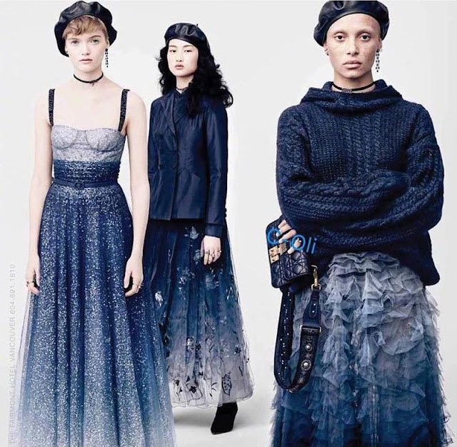 DIOR F/W 2017 - Brigitte Lacombe captured Ruth Bell, Jing Wenn and Adwoa Aboah