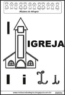 Alfabeto ilustrado letra I