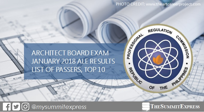 FULL RESULTS: January 2018 Architect board exam ALE list of passers, top 10