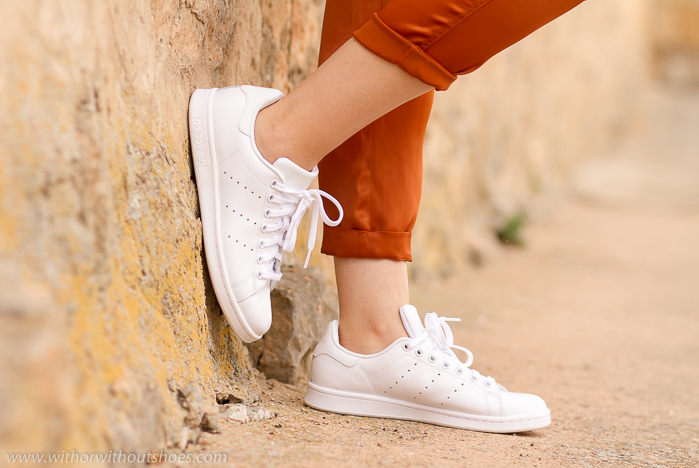 Stan Smith Total White - Sneakers for a Sporty casual outfit