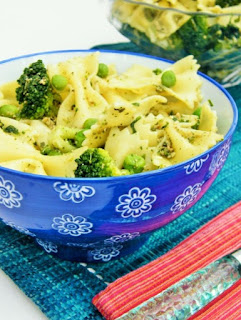 Green Goddess Farfalle with Dairy Free Pesto
