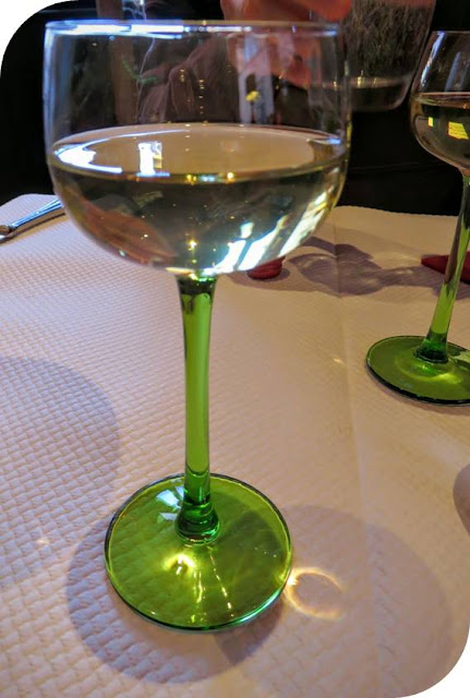 Celebrating Christmas in Strasbourg and Alsace - green-stemmed wine glass