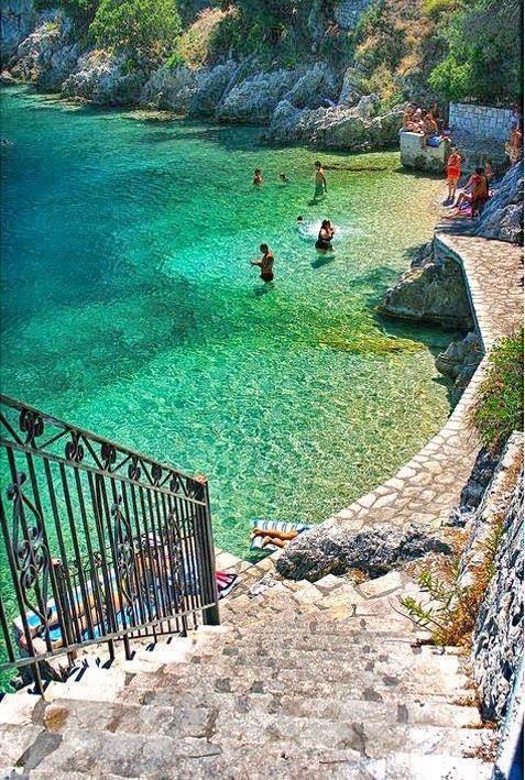 Stairway to heaven - Ithaka island in Greece
