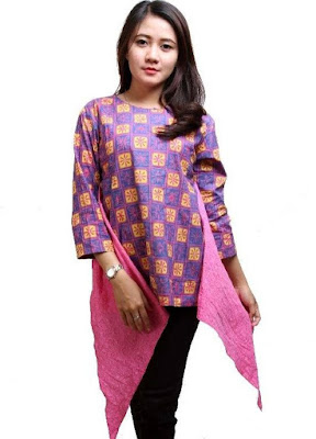 Model Baju Batik Modern Kerja Formal modis