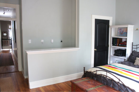 Before & After: Exposing a Brick Chimney Under Plaster Walls | 17 Apart