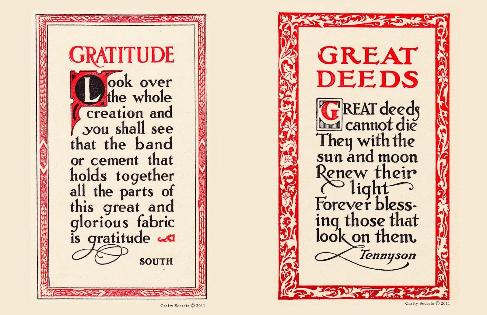 Gratitude Quotes: Crafty Secrets Heartwarming Vintage Ideas And Tips