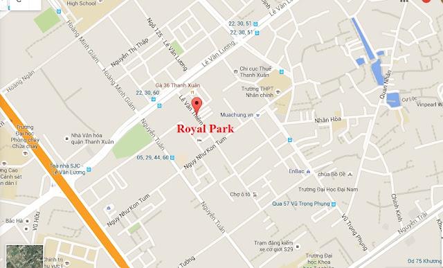 Vị trí cao cấp chung cư Royal Park Lê Văn Thiêm