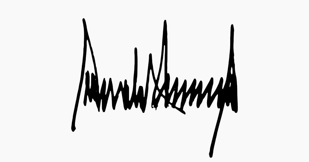 maniacs u0026 39  almanac  donald trump signature