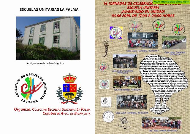 VI Jornadas de Celebración del Día de La Escuela Unitaria: Avanzando en Unidad