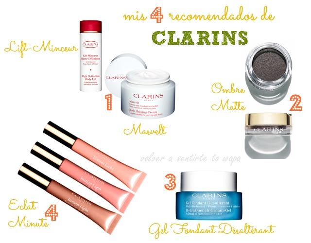 Los 4 productos favoritos - recomendados de Clarins