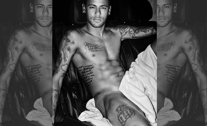 Neymar tá quase nú em foto sensual para Mario Testino