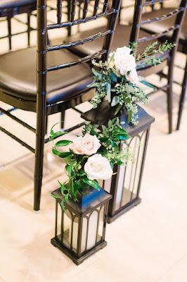 Pink peony wedding ceremony decor
