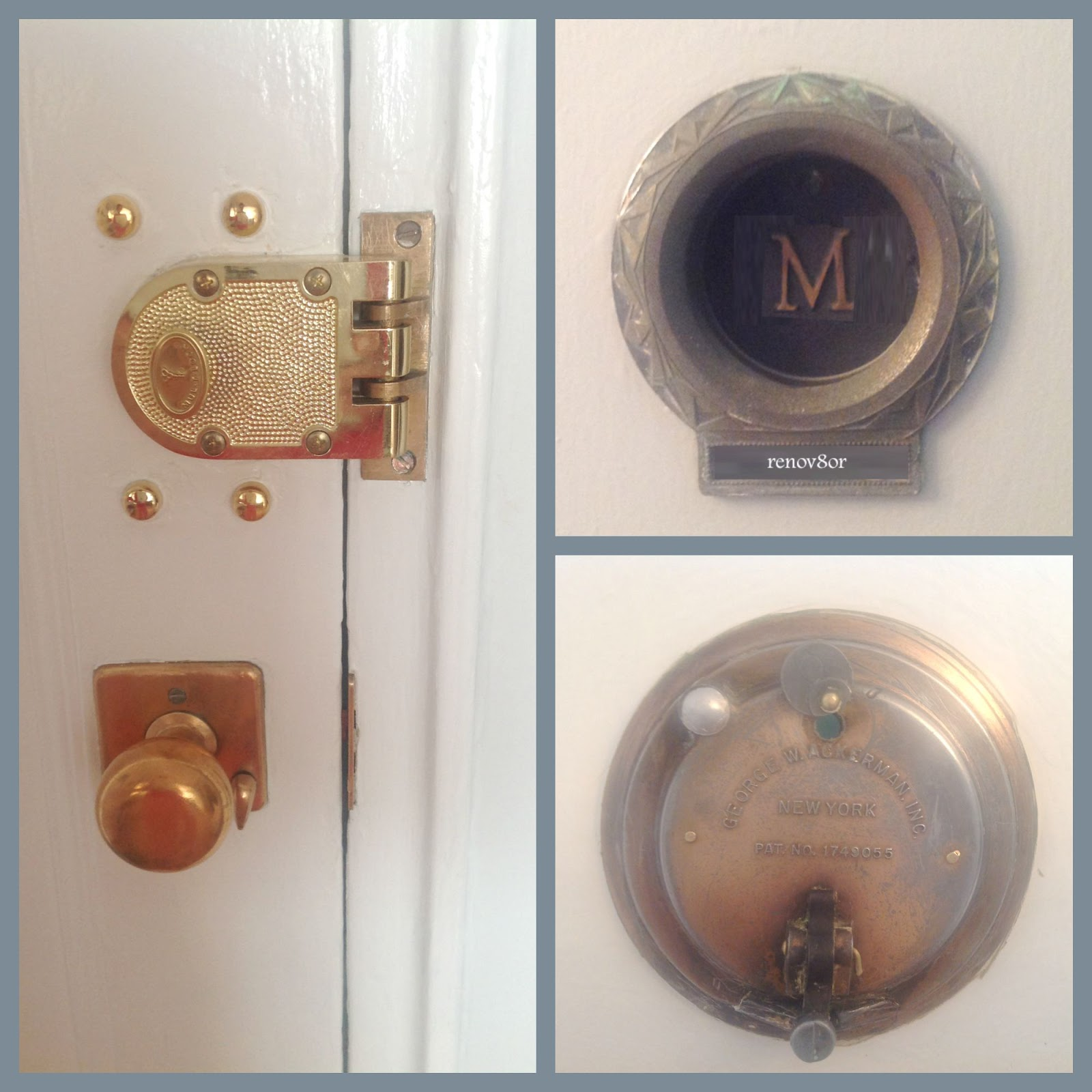 Midcentury Apartment Door Hardware