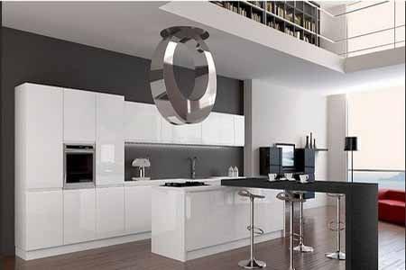 Kitchen Set Minimalis Putih Mengkilap Interior Dapur Berkilau