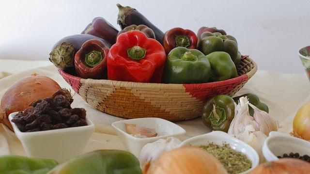 verduras de la cocina de la abuela