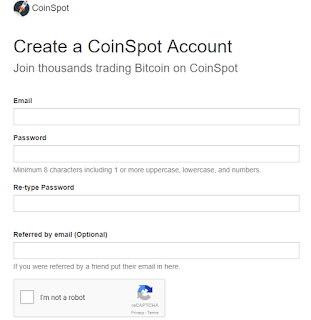 CoinSpot Registration Form