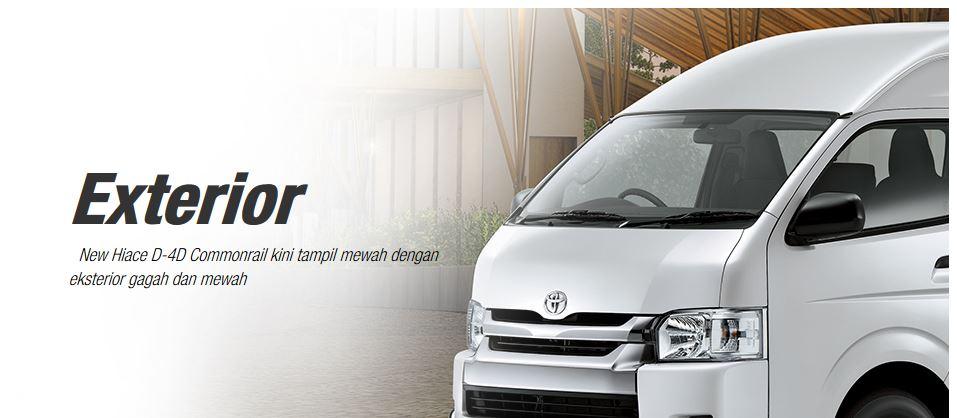 Harga Brosur Promo Kredit Warna Fitur Interior Eksterior Spesifikasi Mobil TOYOTA HIACE Terbaru 2018 Nasmoco Wilayah Banda Aceh, Medan, Sumatra Utara