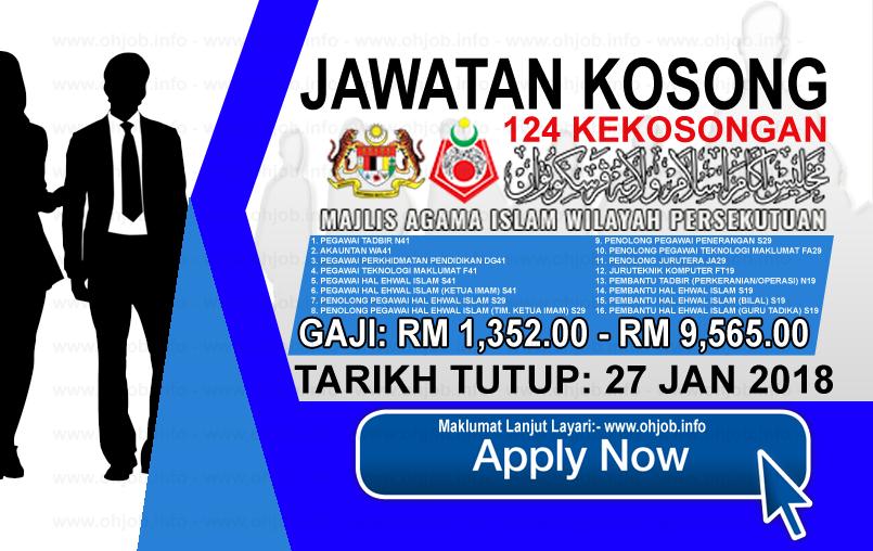 Jawatan Kerja Kosong Majlis Agama Islam Wilayah Persekutuan - MAIWP logo www.ohjob.info januari 2018