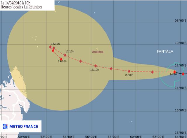 Prévision cyclone tropical Fantala